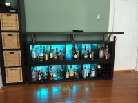 Expedit home bar: Add light and texture! - IKEA Hackers ...
