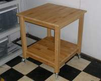 Norden Tables turn into rolling Kitchen Island - IKEA ...