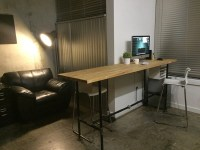 8ft NUMERR countertop industrial style standing desk ...