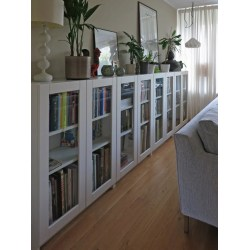 Small Crop Of Bookcases With Glass Doors