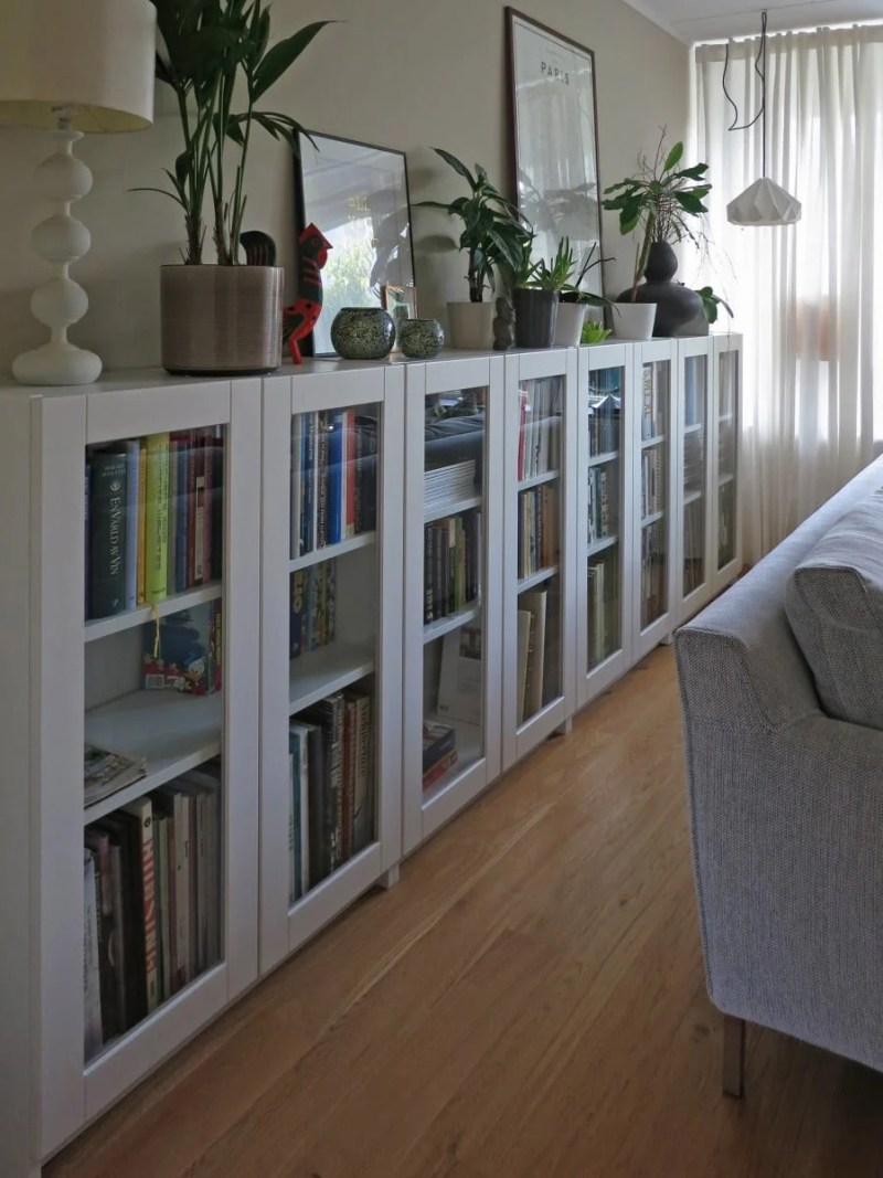 Large Of Bookcases With Glass Doors