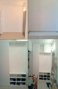 Hallway storage from IKEA Metod kitchen cabinets - IKEA ...