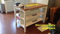 Adding shelves to the Stenstorp kitchen island