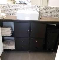 KALLAX bathroom vanity for small bathroom - IKEA Hackers ...