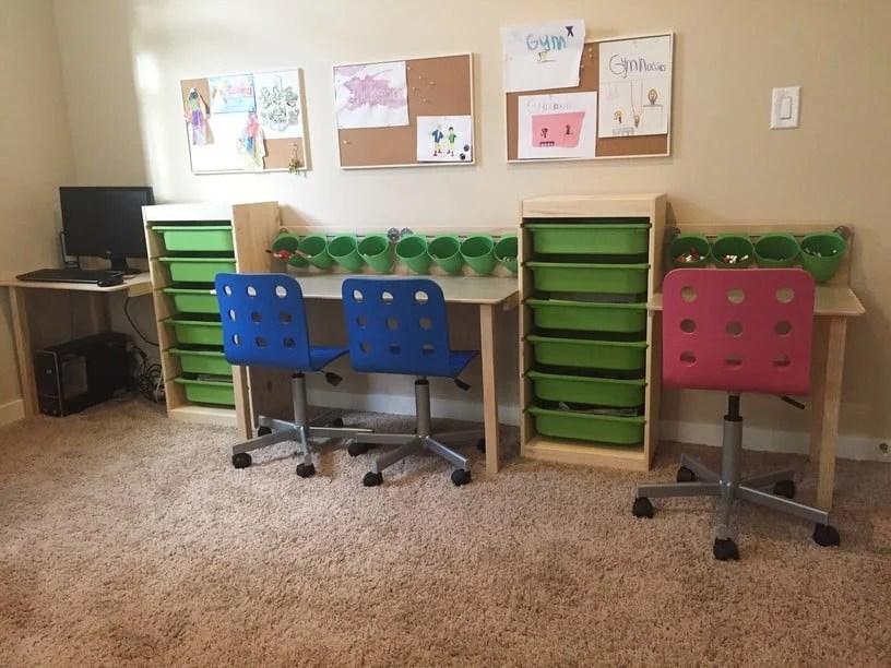 Trofast Kid Desk And Workstation Ikea Hackers