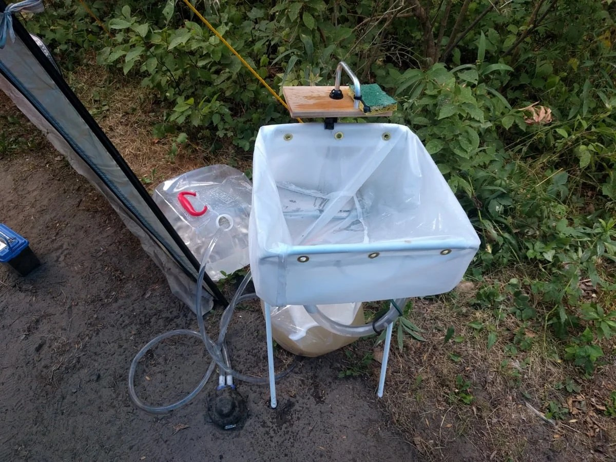 Diy Camp Sink With Jall Laundry Bag Ikea Hackers