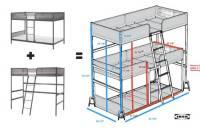 Triple bunk bed DIY