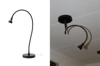 Change a JANSJ table lamp to a ceiling LED spotlight ...