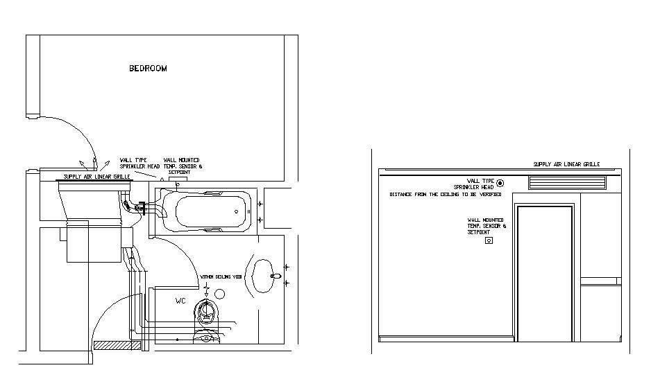 Hotel Design Guestroom Sample Hvac Plan 1
