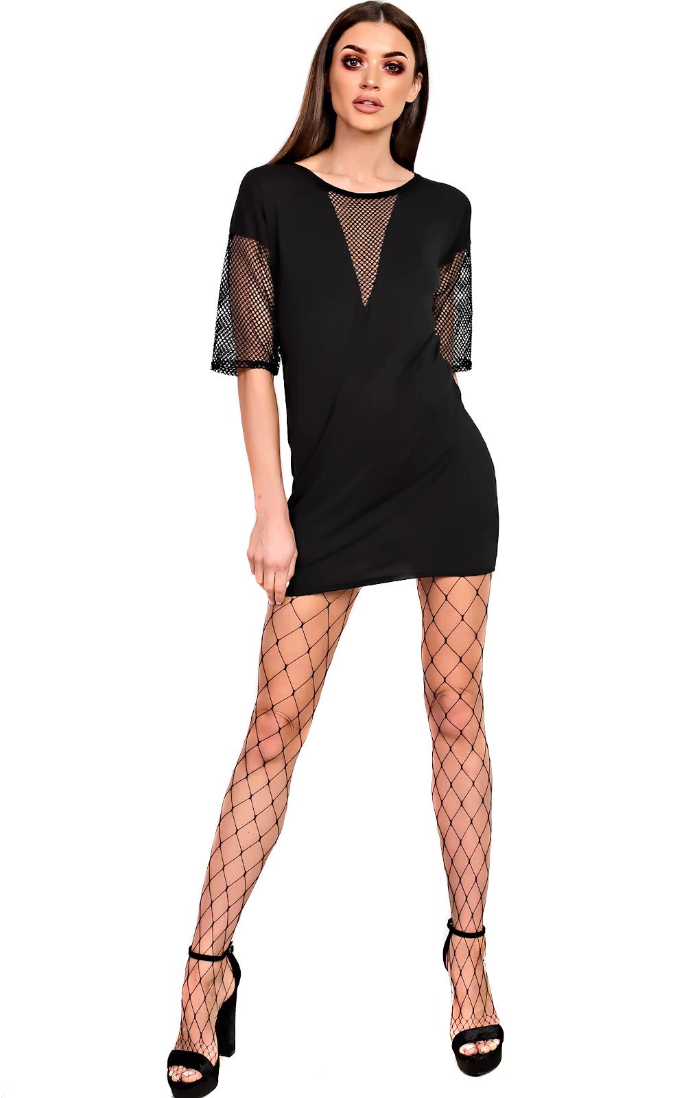 Ikrush balay net detail t shirt dress