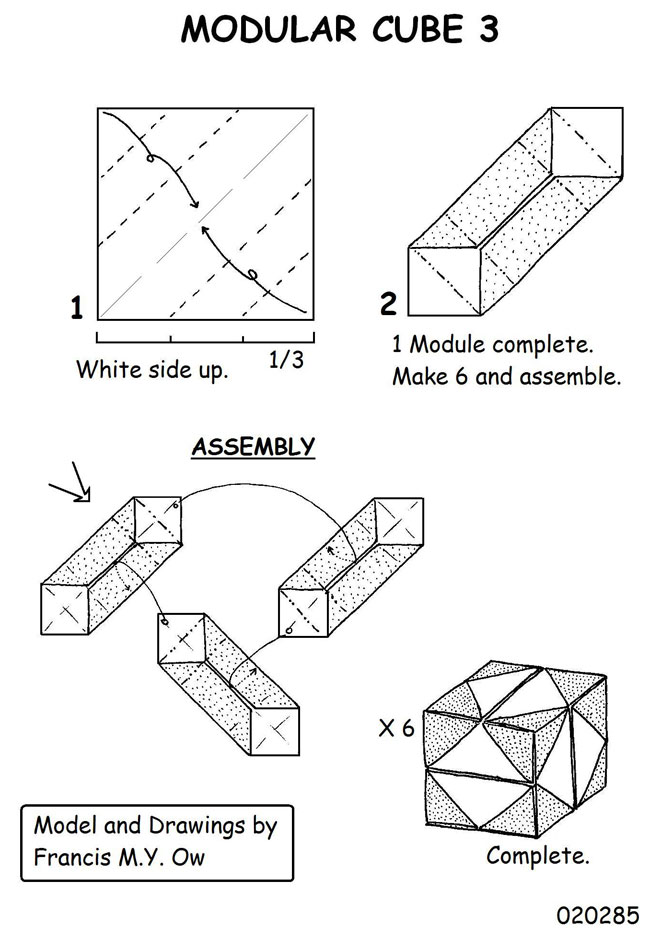 understandable modular origami diagrams 2016