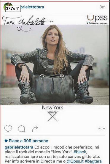 Tara Gabrieletto diventa stilista e modella di Opps Borse