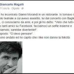 Giancarlo Magalli e Gianni Morandi lite web