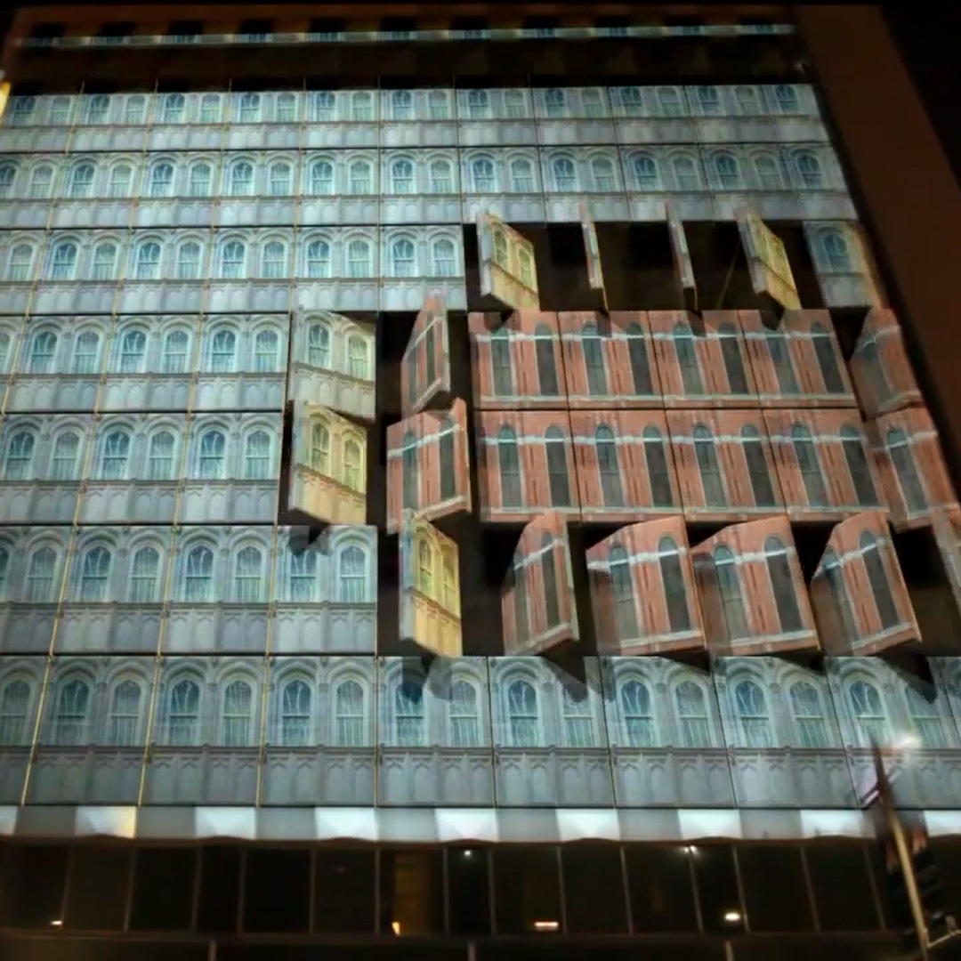 3d Laser Wallpapers 3d Projection Mapping Promoting Quot The Tourist Quot In Dallas