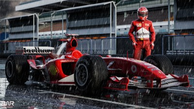 Daily Wallpaper: Ferrari F2004 ft. Michael Schumacher | I Like To Waste My Time