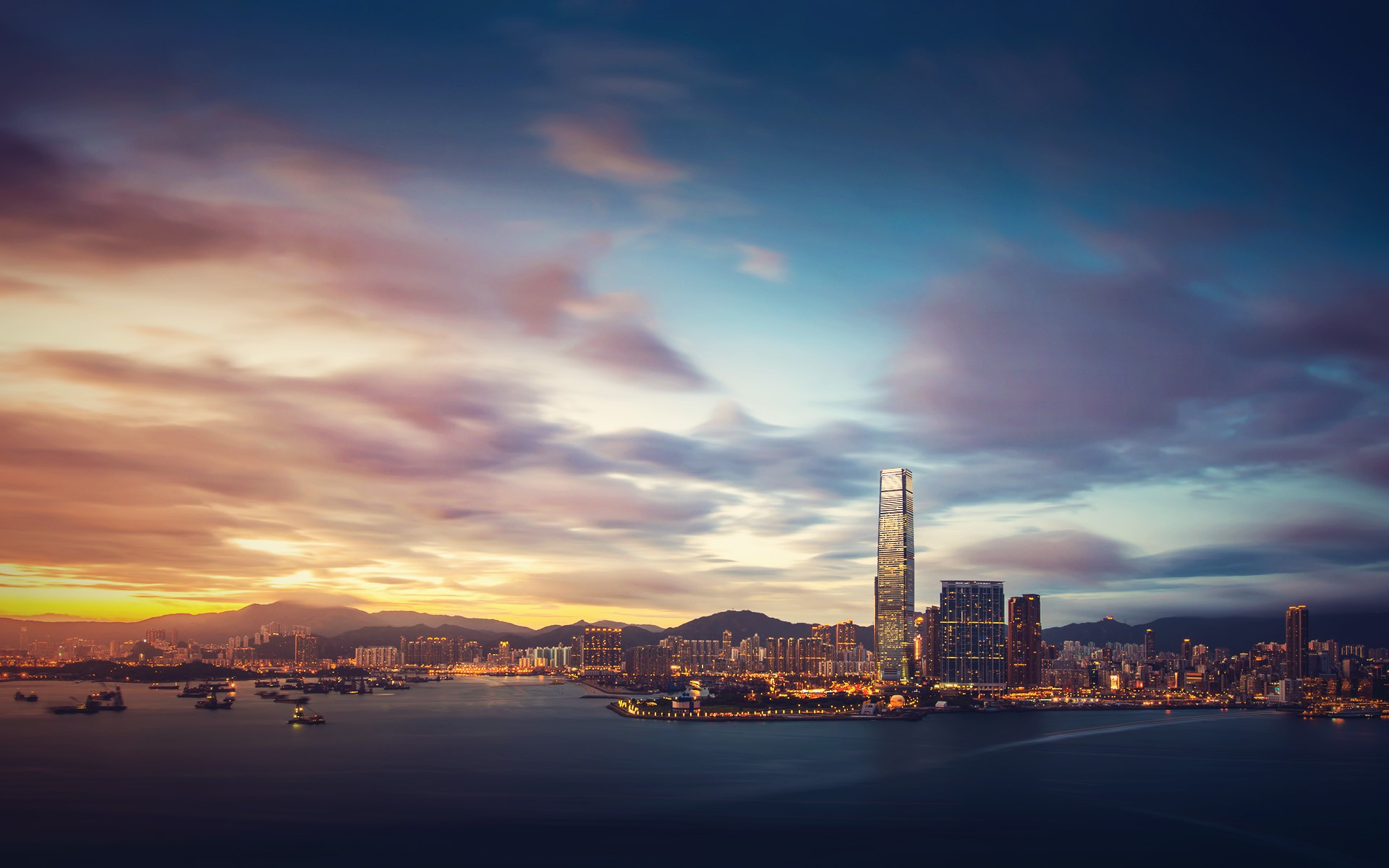 Fall Hills Wallpaper Daily Wallpaper Hong Kong Sunset I Like To Waste My Time
