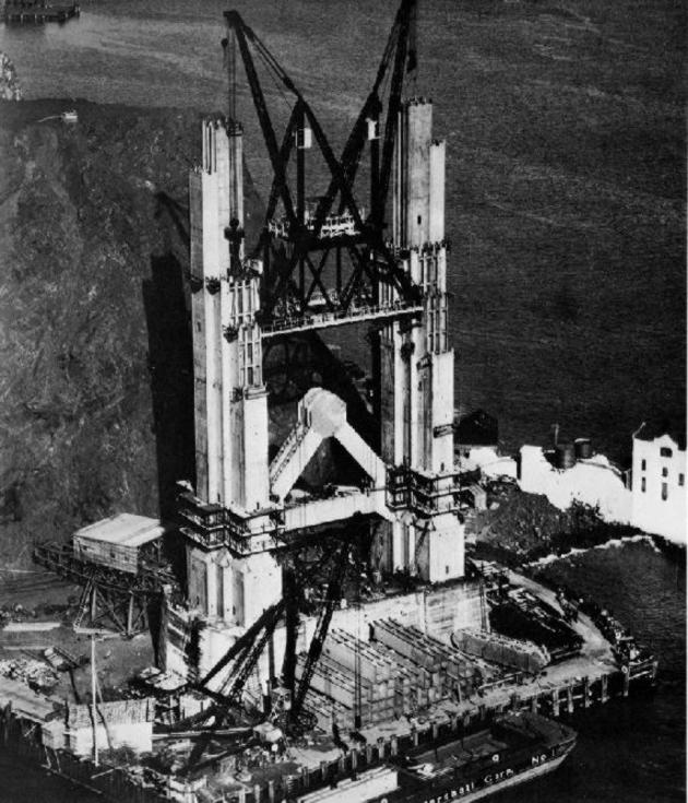 Construction of the Golden Gate Bridge in 1933 Photos I Like To