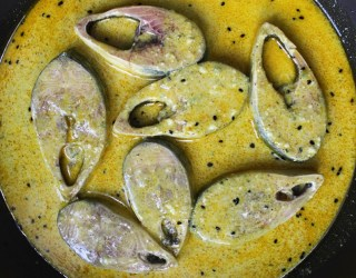 Doi Ilish Recipe in a Plate