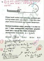 Merkezcil kuvvet denklemi ile enerjinin korunumu kullanilarak kinetik ve potansiyel enerji