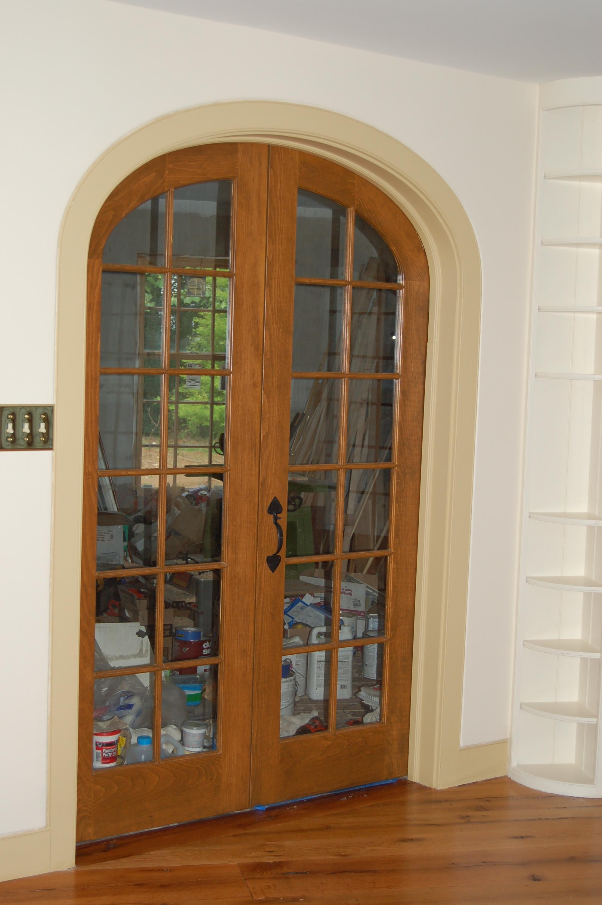 exterior door with built in screen