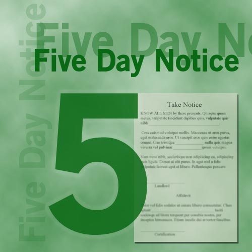 Illinois Landlord\u0027s Five Day Notice for Nonpayment of Rent 5 Day