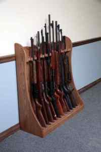 Diy wood projects for beginners, Standing Rifle Rack Plans