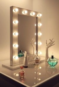 High Gloss White Hollywood Makeup Theatre Dressing Room ...