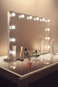 Mirror Finish Hollywood Makeup Mirror with Warm White ...
