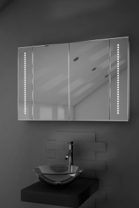Star LED Illuminated Bathroom Mirror Cabinet With Sensor ...