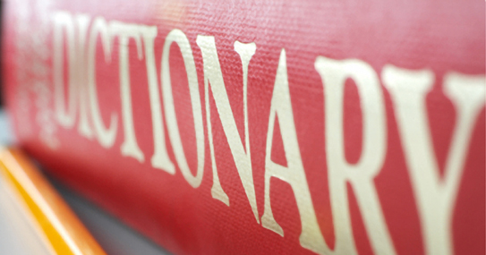 Photography of an English Dictionary
