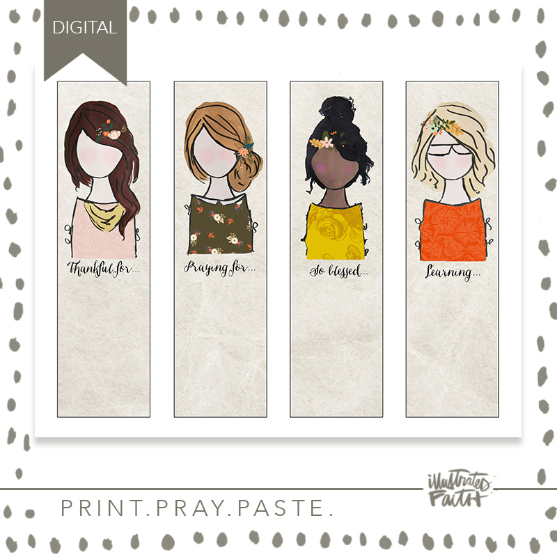 Beloved Society Simply Abide Journaling Bookmarks - Illustrated Faith