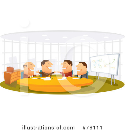 Business Meeting Clipart #78111 - Illustration by Qiun