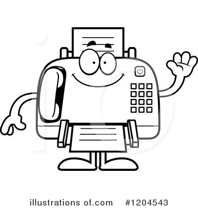 Fax Machine Clipart #1204543 - Illustration by Cory Thoman - cute fax cover sheet