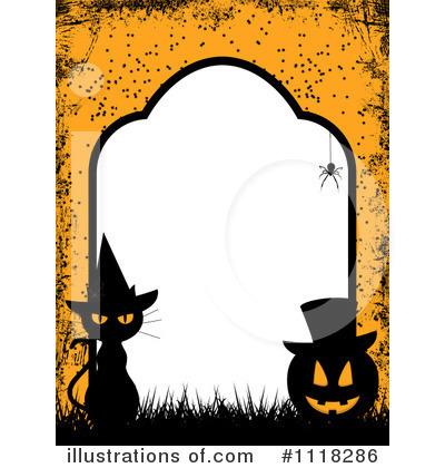 Halloween Black Cat Wallpaper Halloween Clipart 1118286 Illustration By Elaineitalia