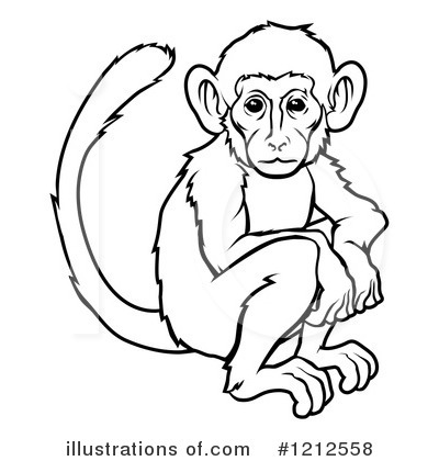 Monkey Clipart #1212558 - Illustration by AtStockIllustration