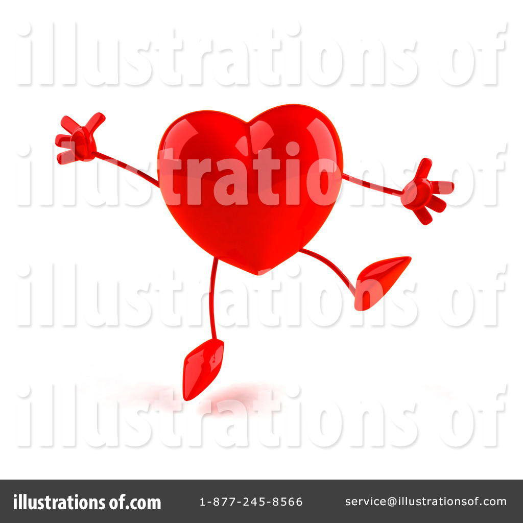 Royalty free rf heart character clipart illustration by julos stock sample