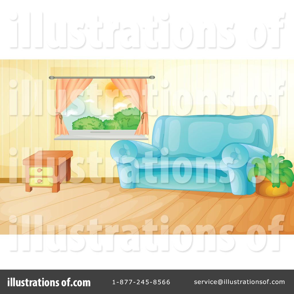 Cartoon Living Room Background Scene Bedroom