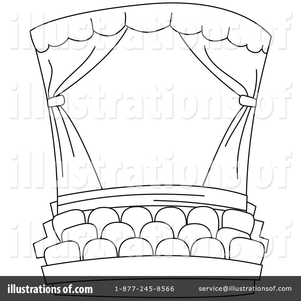 Stage curtains colouring pages