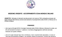 Camera di Commercio Monza: anche la Provincia ricorra al TAR