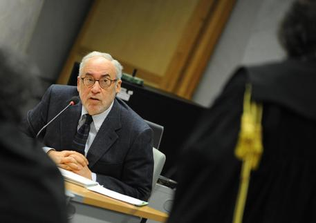 Ottaviano Del Turco in tribunale          ANSA/MASSIMILIANO SCHIAZZA
