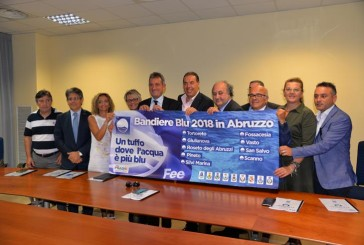 Le Bandiere Blu d' Abruzzo in 26 aree servizio