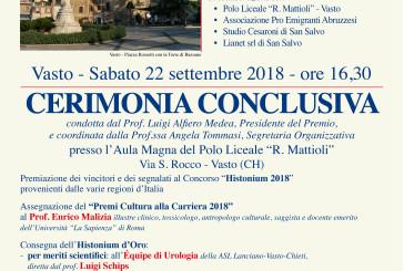 Oggi la Cerimonia Conclusiva della XXXIII Edizione del Premio Nazionale Histonium di poesia e Narrativa