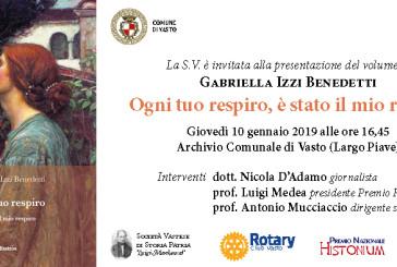 """Oggi la presentazione del libro """"Ogni tuo respiro, è stato il mio respiro"""" di Gabriella Izzi BenedettI"""
