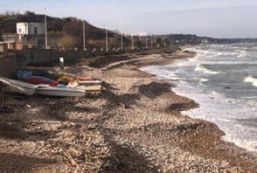 A Casalbordino sono spariti 9 metri di spiaggia