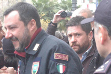 Vasto, in tremila per il comizio di Matteo Salvini