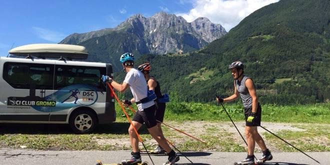 Comitato FISI Alpi Centrali con gli ski roll al Simoncelli