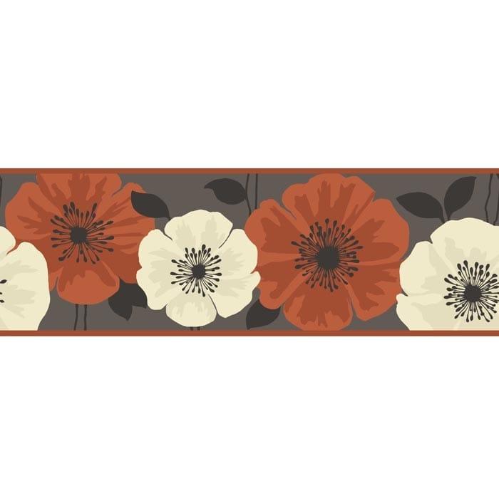 Wallpaper Border For Girl Nursery Buy Fine Decor Poppie Wallpaper Border Brown Orange