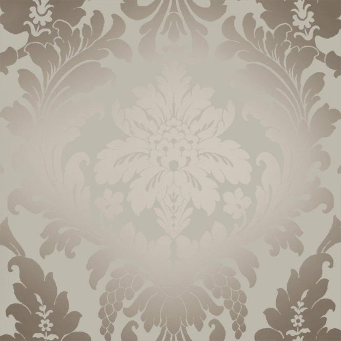3d Tile Effect Wallpaper Shimmer Metallic Grande Damask Wallpaper Mushroom Gold
