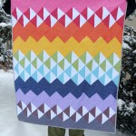 A Spectrum of Gingham Quilt