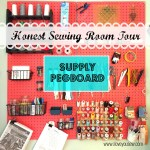 Honest Sewing Room Tour – Supply Pegboard